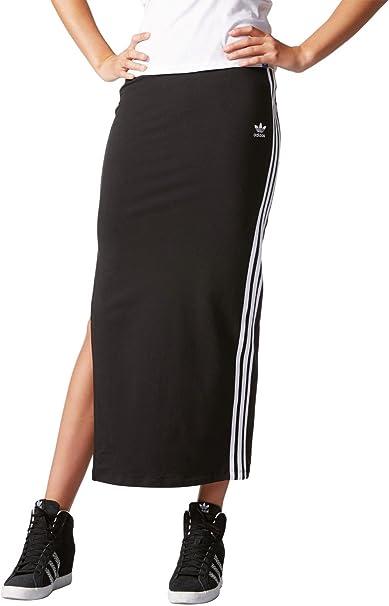 Adidas - Falda Larga para Mujer, diseño de Las 3 Bandas: Amazon.es ...