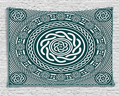 Ambesonne Celtic Decor Collection, Ethnic Irish Circular for sale  Delivered anywhere in USA