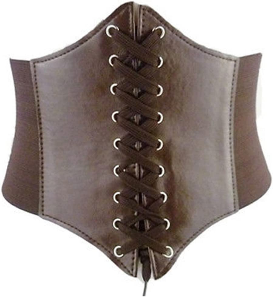 Hujukuludusu Womens Lace Up Tied Wide Waist Tight Corset Belt Slimming Body Shaper Belt