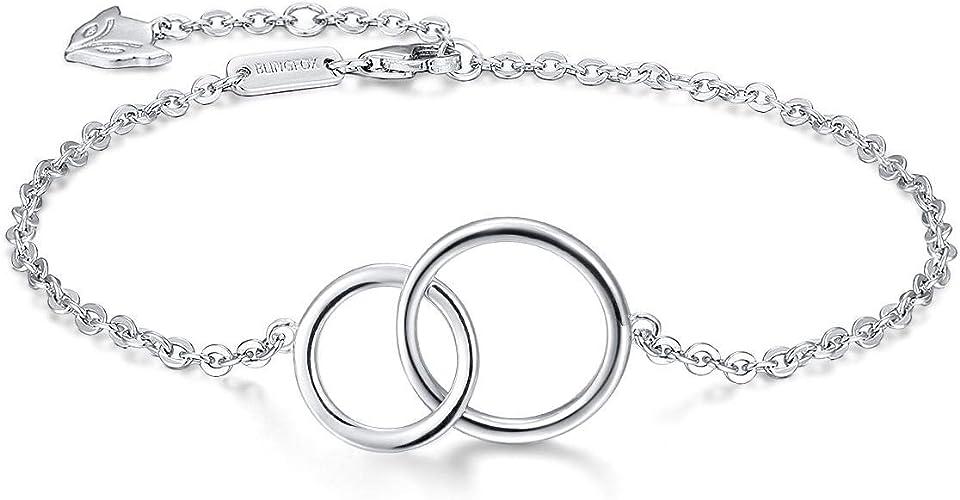 Bracciale da donna in argento 925 braccialetto infinito tennis per con ciondolo