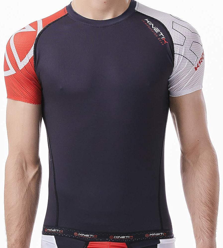 JSYDTX Mens Cool Dry Workout Shirts Compression Fitness Short Sleeve Cycling Jersey 3D Padded Bib Set Quick-Dry Shorts