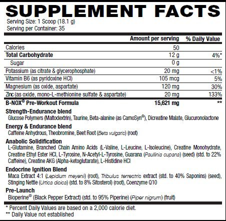 Betancourt Nutrition - B-Nox Pre Workout Drink Mix, Strawberry Lemonade 35 servings, 22.3 oz (1.3 lbs.)