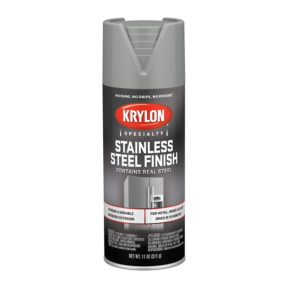 Krylon K02400007 Stainless Steel Finish Spray Paint, Stain Steel, 11 Ounce