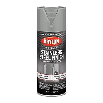 Krylon K02400007 Stainless Steel Finish Spray Paint, Stain Steel, 11 Ounce
