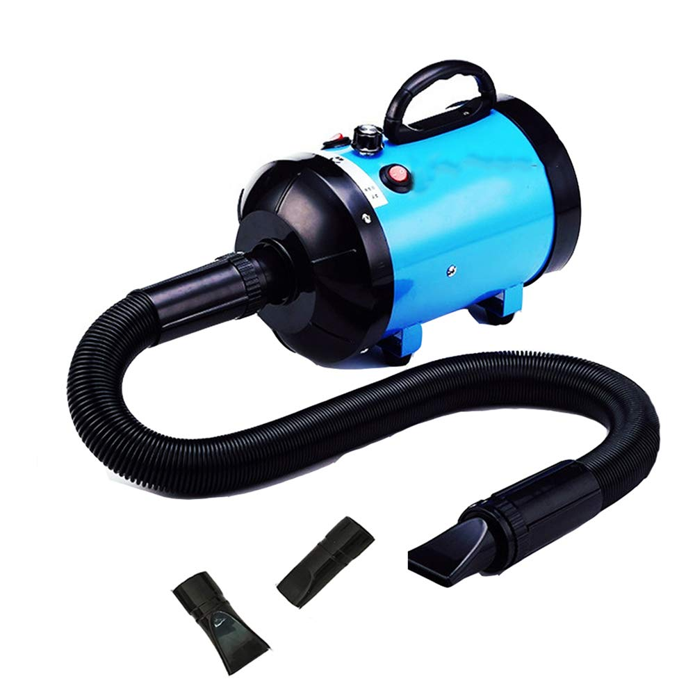 bluee MiaoMiao Pet Dryer Twospeed Adjustment Special Hair Dryer Mute Dust And Antibacterial Durable (color   BLACK)