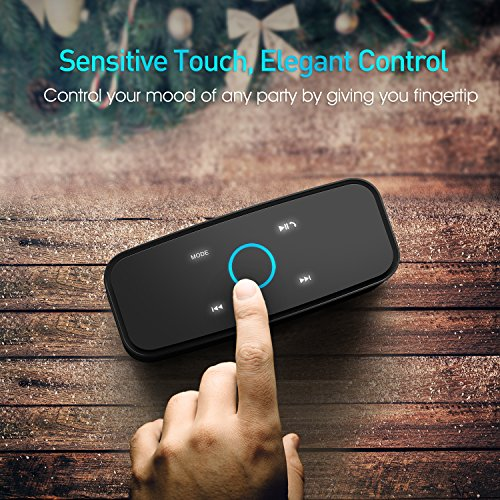 DOSS Touch Wireless Bluetooth V4.0 Portable Speaker with HD Sound and Bass (Black)