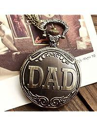 Metro Shop Interesting Antique Brass DAD Pocket Watch