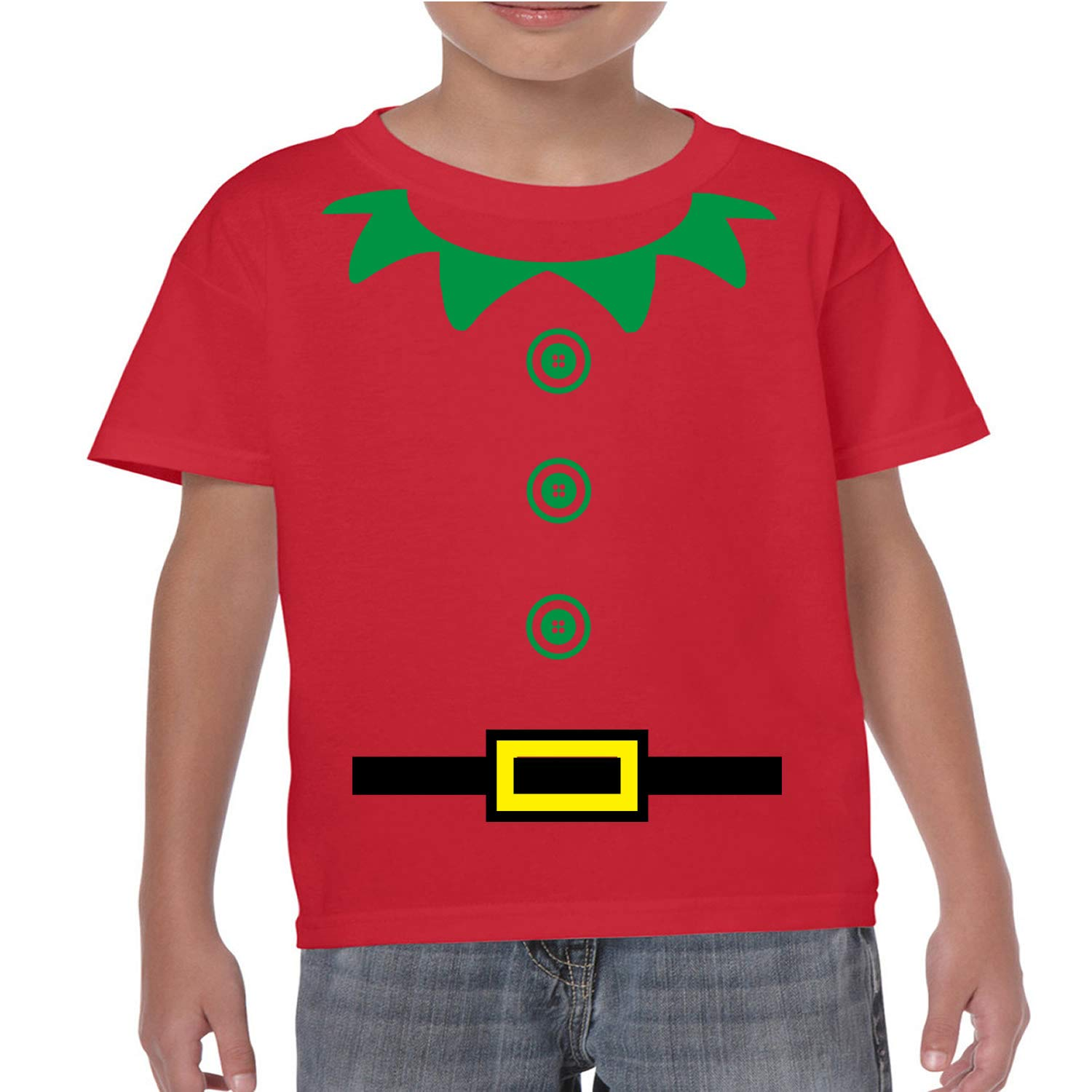 fe9a9725e Christmas Elf Funny Kids T-Shirt / Costume. Childrens Xmas Party Top  ,Present Gift: Amazon.co.uk: Clothing