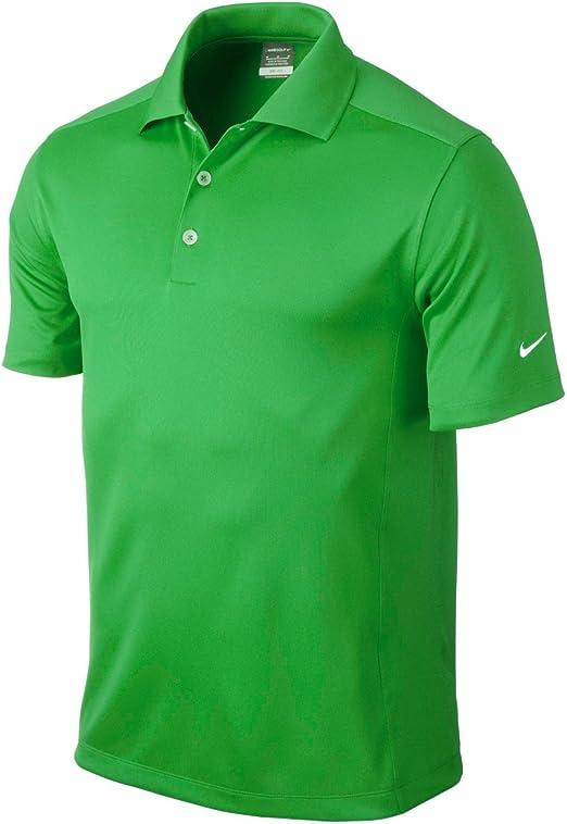 Nike Golf Dri-Fit Solid Polo, Hombre, Verde, Medium: Amazon.es ...