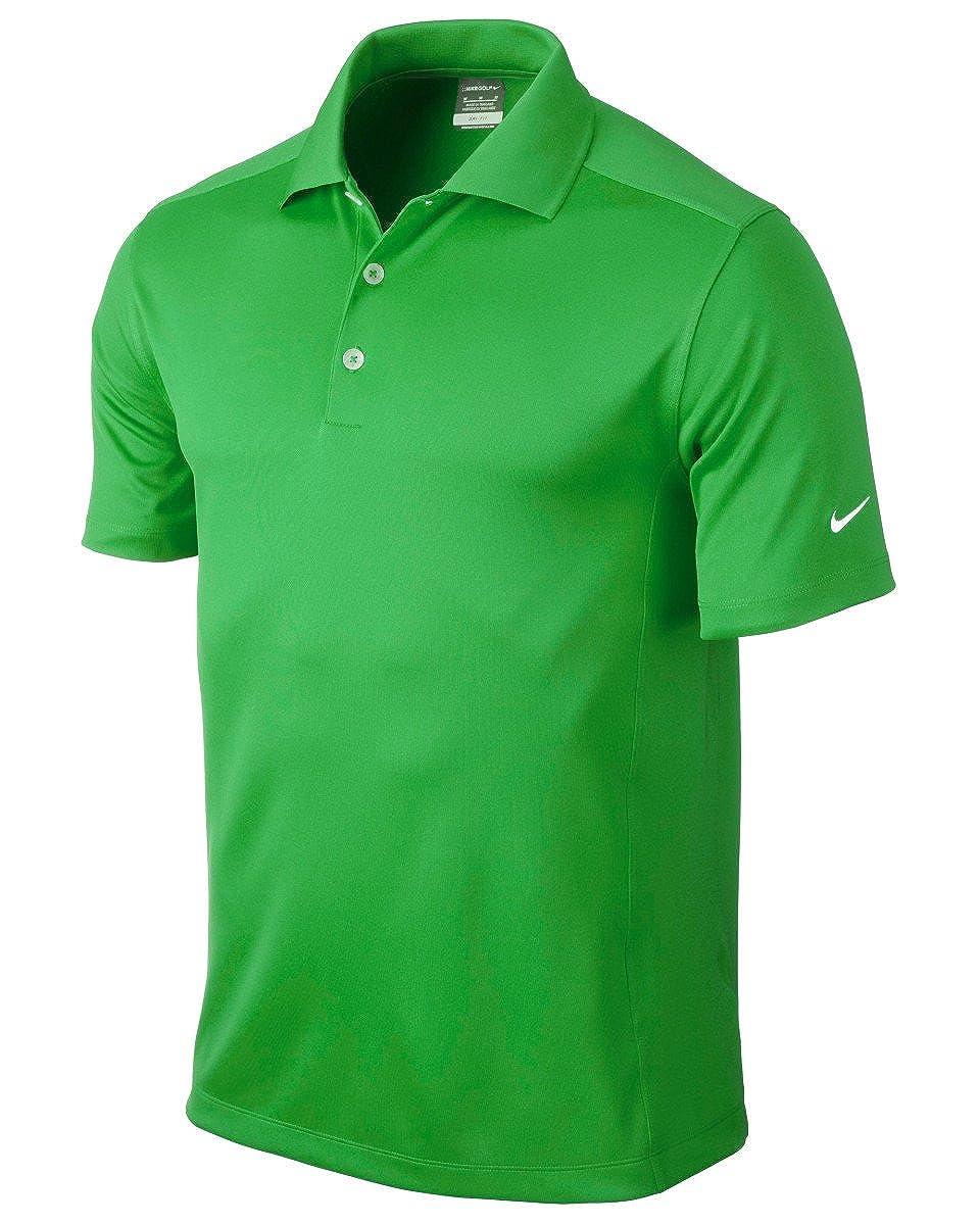 Nike Golf Dri-Fit Solid Polo Vivid Green L by Nike: Amazon.es ...