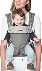 Ergobaby 360 All Carry Positions Award-Winning Cool Mesh Ergonomic Baby Carrier, Carbon Grey, Dewy Grey