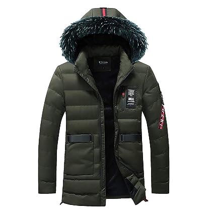 Hombres y niños invierno abrigo calentar con capucha peludo,Sonnena ⚽ invierno casual abrigo suave