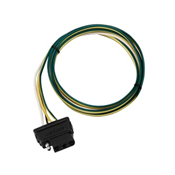 Amazon.com: Wesbar 707275 4-Way Flat 4' Car End Wire Harness ... on trailer generator, trailer brakes, trailer mounting brackets, trailer plugs, trailer fuses, trailer hitch harness,