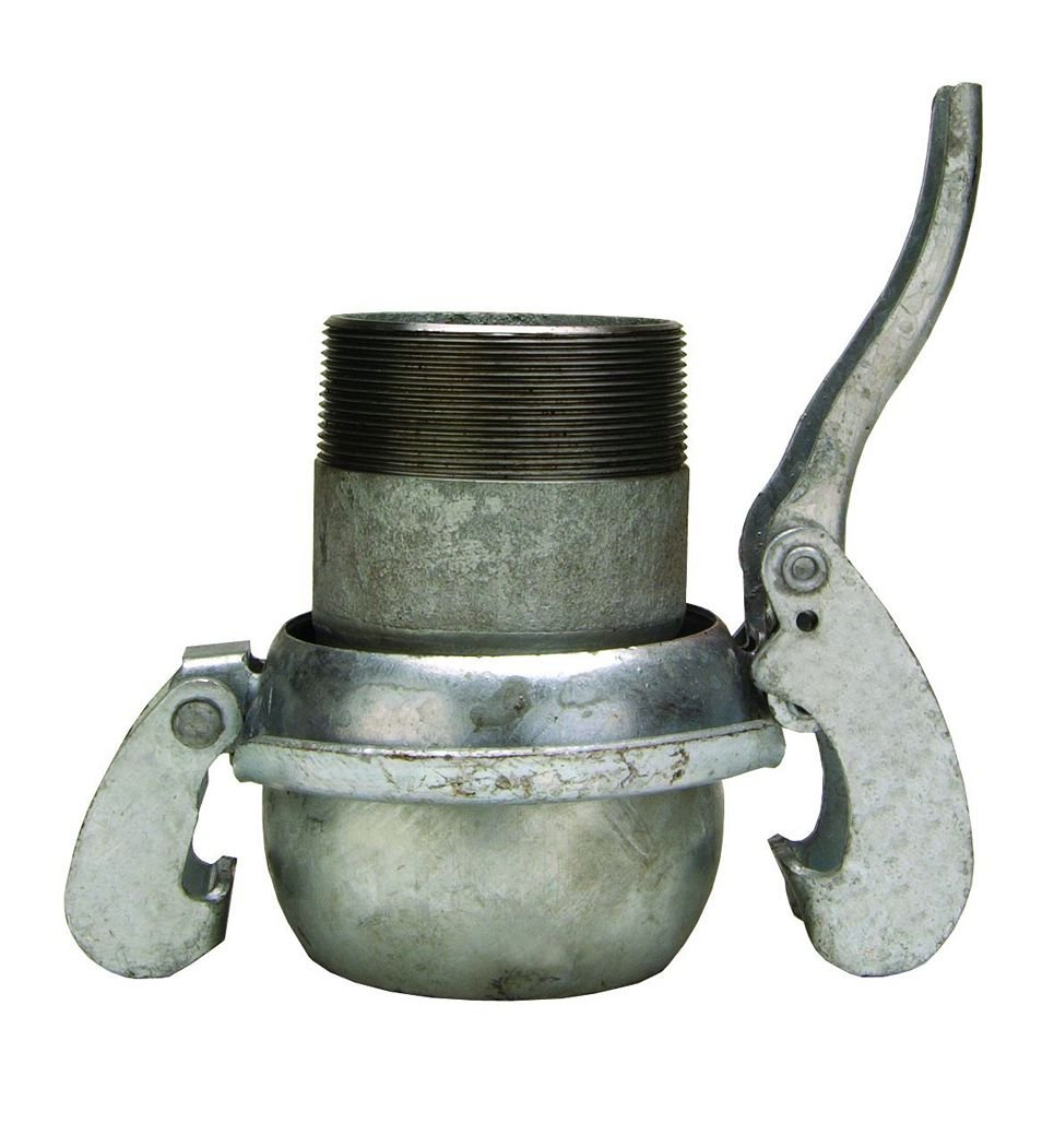 Type-B Male with Male NPT Dixon MCM3112 2 Bauer Style Quick Connect Fitting 3 ID Galvanized Steel 3 ID