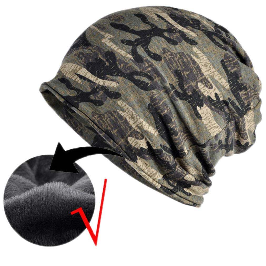 Autumn Winter Summer Hat Men Women Tactical Military Army Camouflage Beanie Knitted Skullie Scarf Cap