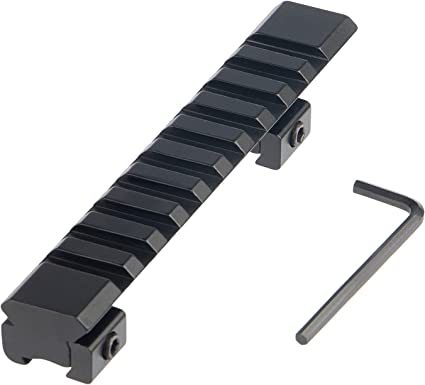 Quality 20mm Rail Mount 8 Slots Riser Base Fit For Scope Picatinny//Weaver gl