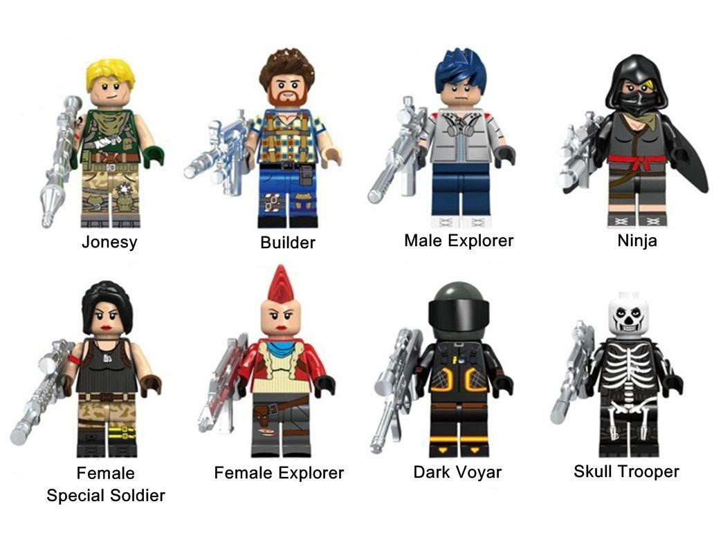 KOPF FORTNITE Heroes Collection Set 8PCS Mini Dolls Bricks Building Blocks Figures Toys