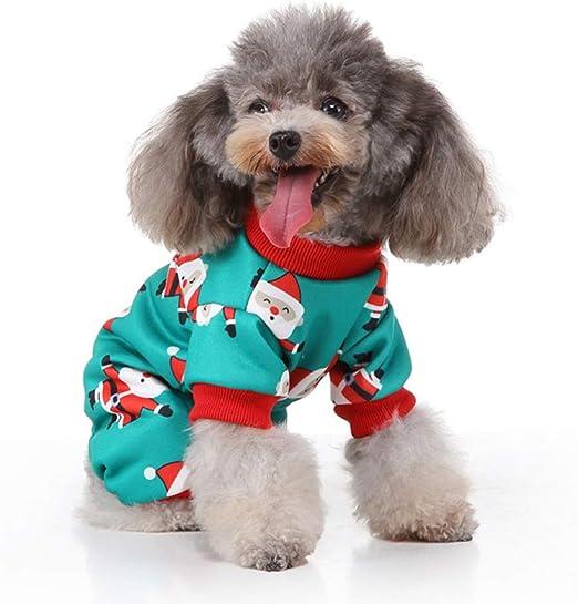 POPETPOP Perro Pijamas de Navidad Mascota Traje de Navidad ...