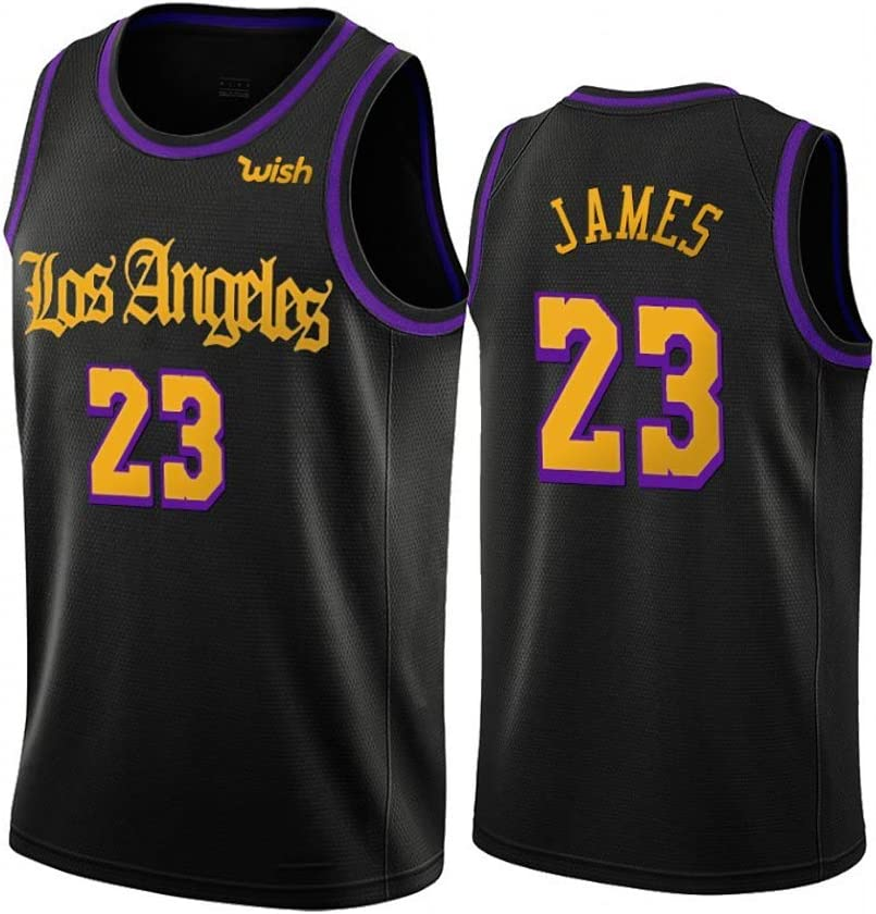 Lebron James Basketball Trikot f/ür Jugendliche Polyester Atmungsaktives Fan Basketball Trikot Lakers N0.23 Icon Edition Swingman Trikot Classic Collection Full Version