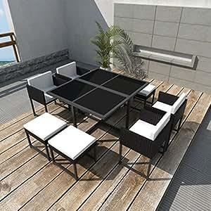 Festnight 21 piezas conjunto de mesa y sillas de exterior jard n - Amazon mesas de jardin ...