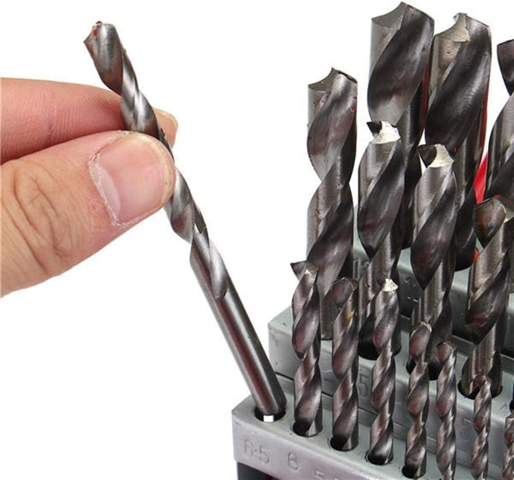 SDY-SDY Drill 1-13mm 38pcs HSS Twist Drill Bit Set with Case Drill Accessories Drill