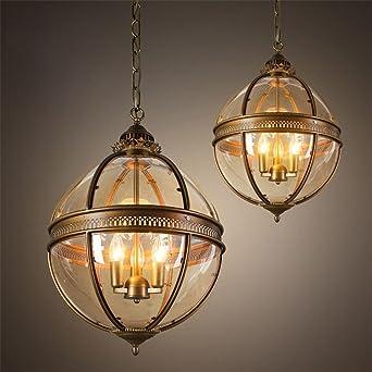 Superieur Meilleur Lustre Lustres Globe Vintage 3 Lumières E12 E14 Verre Transparent  Peinture Métal Loft Lustres Pour