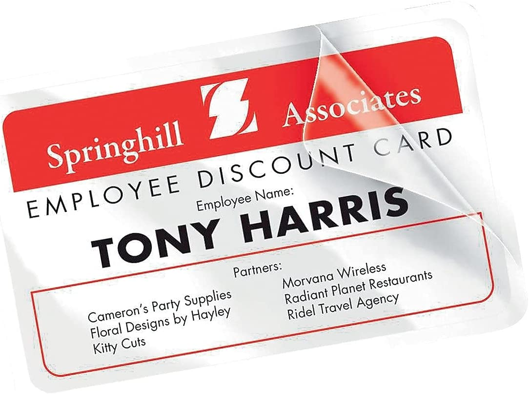 """Avery 5361 Self Laminating ID Cards 30 per pack 2.25/"""" x 3.5/"""" White 2 PACKS"""