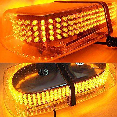 AMBOTHER Auto Rundumleuchte Auto Signal LED Warnleuchte Blinkleuchte Alarm Licht Blitzleuchte Xenon Magnetleuchte Strobo Blinklicht Wasserdicht 12V gelb