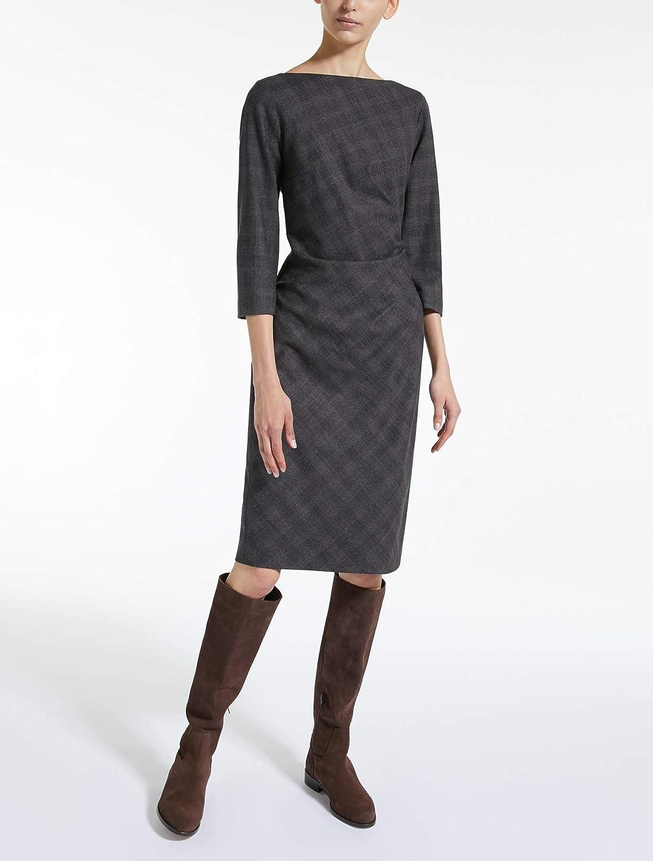 (マックスマーラ) MaxMara Women`s Wool flannel dress 女性のウールのフランネルのドレス (並行輸入品) B07G6NGTV3 IT 48|Caffe Caffe IT 48