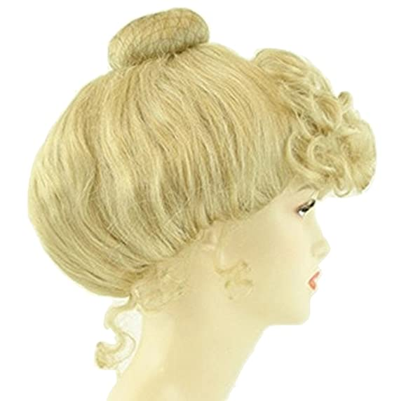 Edwardian Gloves, Handbag, Hair Combs, Wigs Blonde Victorian Wig Gibson Girl Lady Curly Upsweep 1800s Costume Womens $35.93 AT vintagedancer.com