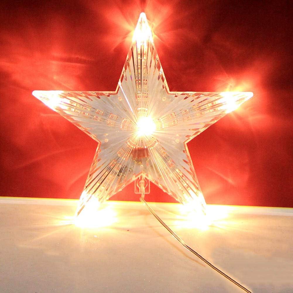 20 cm Flash Star Deko Licht Weihnachten Treetop Decoration Light 220V f/ür Weihnachtsbaum Dekoration Weihnachtsfeiertags Winter Party Dekor Warmwei/ß HOPELJ Weihnachtsstern Baum Deckel