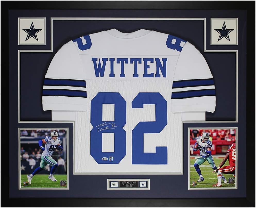Jason Witten Autographed White Dallas Jersey - Beautifully Matted ...