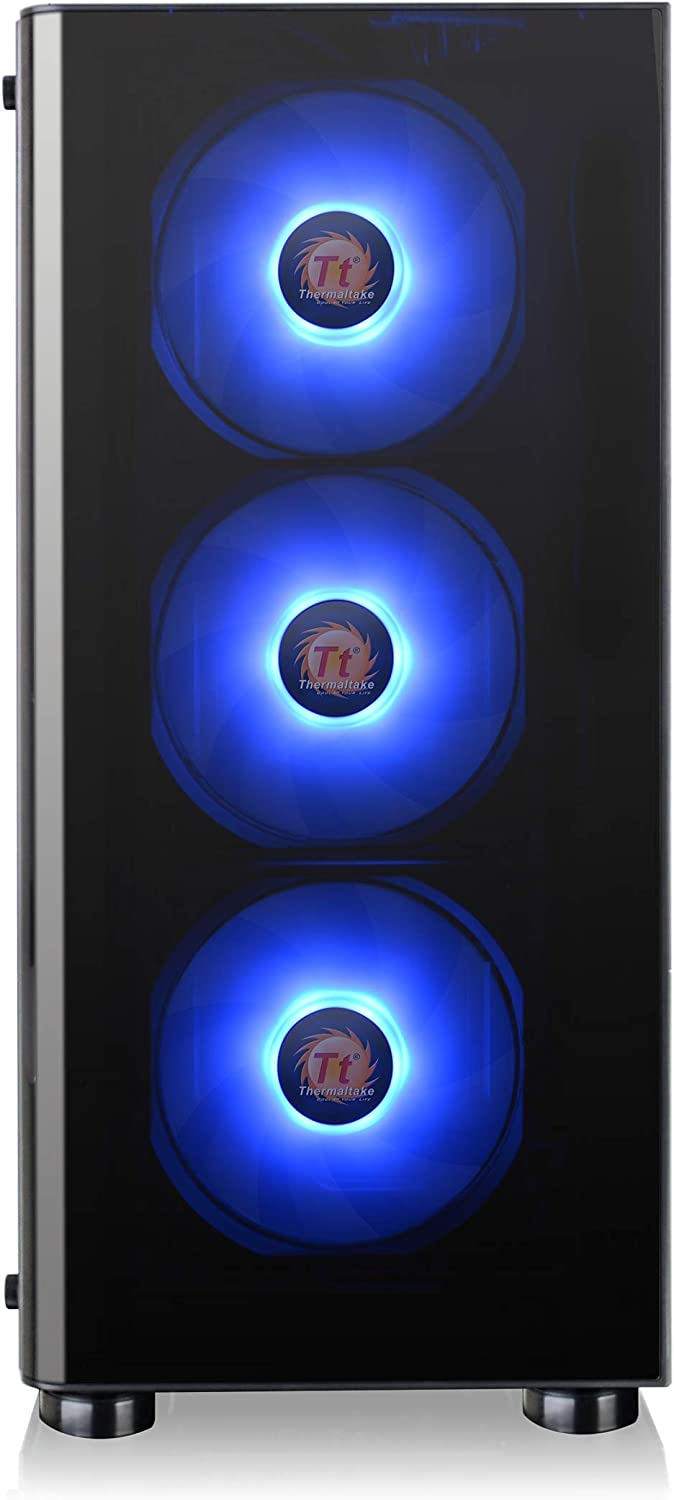 Thermaltake CA-1K8-00M1WN-01 V200 Tempered Glass RGB Edition//Mid-Tower//Gaming PC//Modding Chassis Black