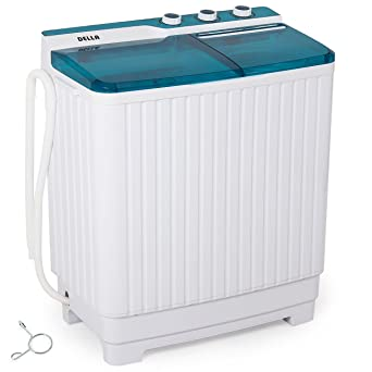 Della Portable Mini Compact Twin Tub Washing Machine Washer Spin Dryer  Cycle (9KG) With