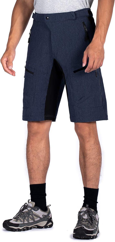 Wespornow Mens-Mountain-Bike-Shorts-MTB-Cycling-Shorts with Zipper Pockets