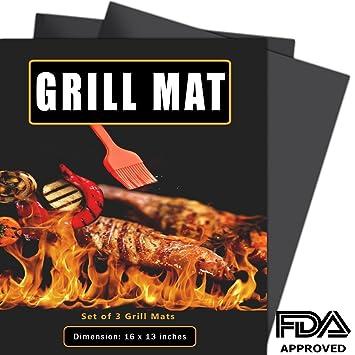 dikaly alfombrilla de barbacoa (Set de 3, antiadherente para barbacoa Grill & Baking Mats