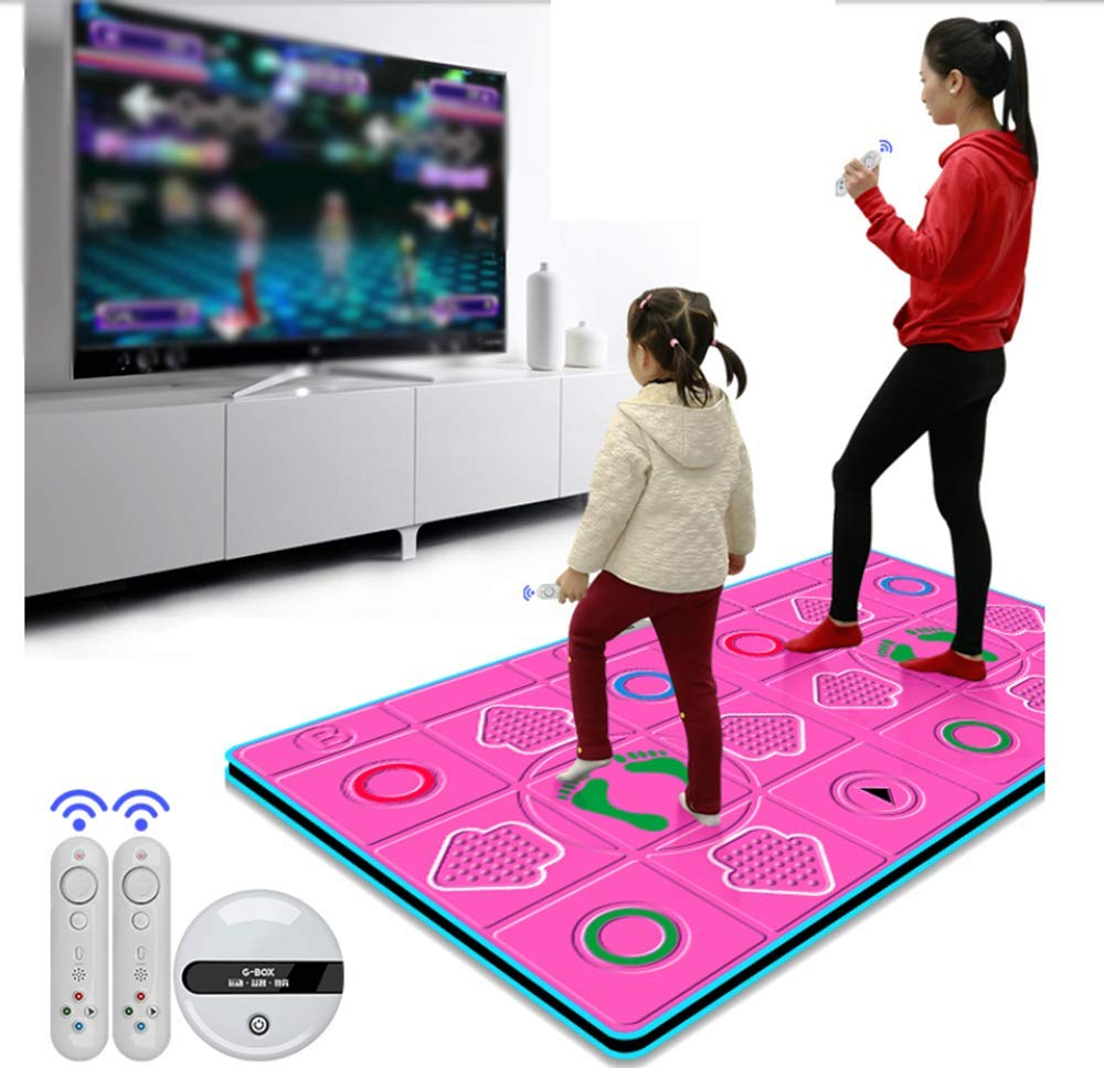 Dance mat Double Yoga to Lose Weight Somatosensory Game Machine Parent-Child Education Gift PU Material Comfortable 3D Carpet Non-Slip, Unlimited Download Song Game by Dance mat (Image #2)