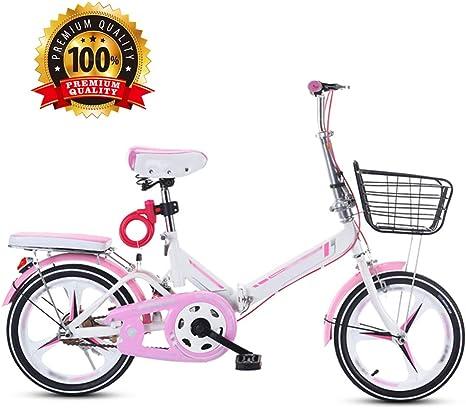 LQ&XL Bicicleta MTB Plegable, 16/20 Pulgadas Mountainbike ...