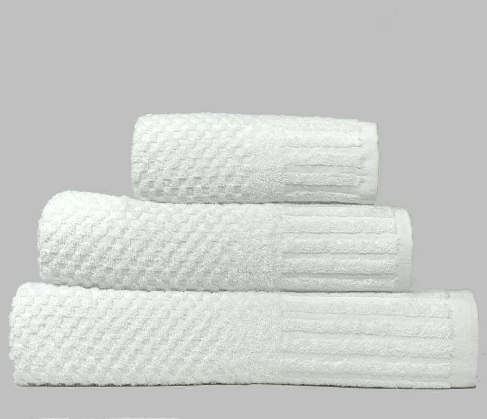 Quick Dry 450gsm linenHall Spa Waffle Hand Towel In White