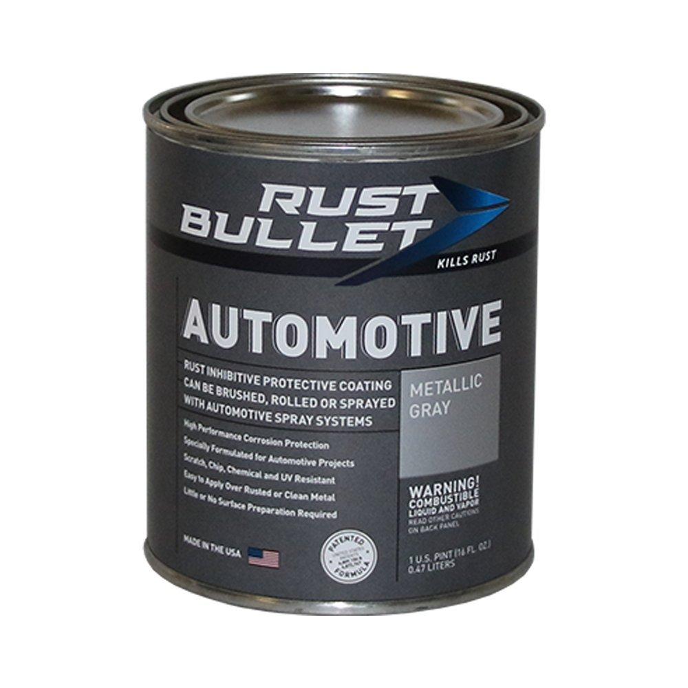 Rust Bullet RBA52 Automotive Rust Inhibitor Paint, 1 Pint Metal Can, Metallic Gray by RUST BULLET