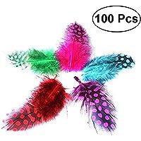 Toyvian 100pcs Plumas de la puntilla de Bricolaje