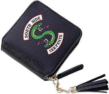 Yesgirl Riverdale Southside Serpents Monedero Monedero Monedero Monedero De Mujer Monedero De Mujer Tacón Corto Muchos Compartimentos Monedero De Pu Negro Talla Única: Amazon.es: Ropa y accesorios
