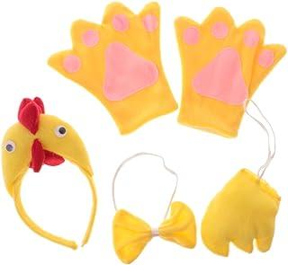 Sharplace Costumi Da Gallo Pollo Bambino Adulto Travestimenti Abiti Comleti Cosplay Per Carnevale Halloween Natale Capodanno - Giallo, bambini