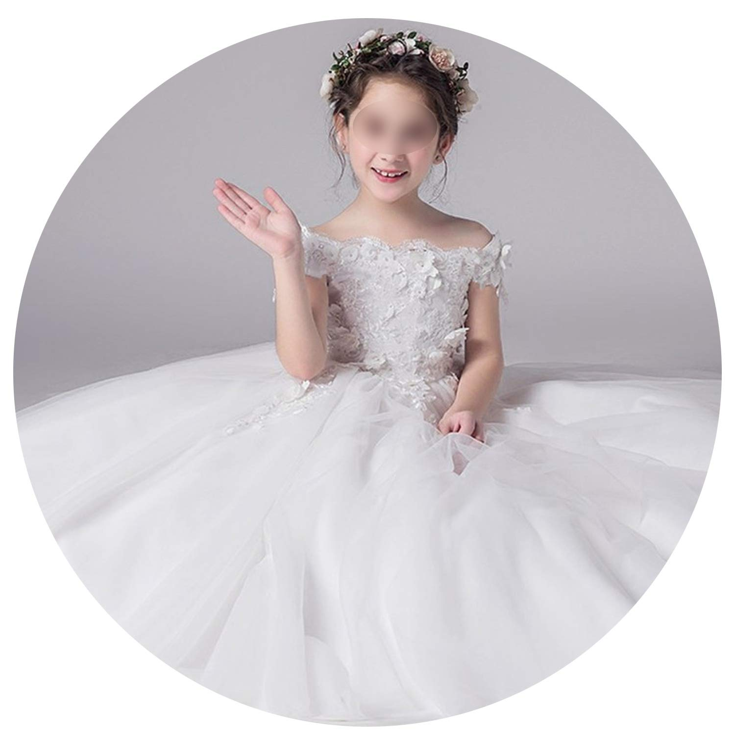 Tulle Lace Infant Pageant for Weddings and Party First Communion Dresses for Girls,as picture3,12