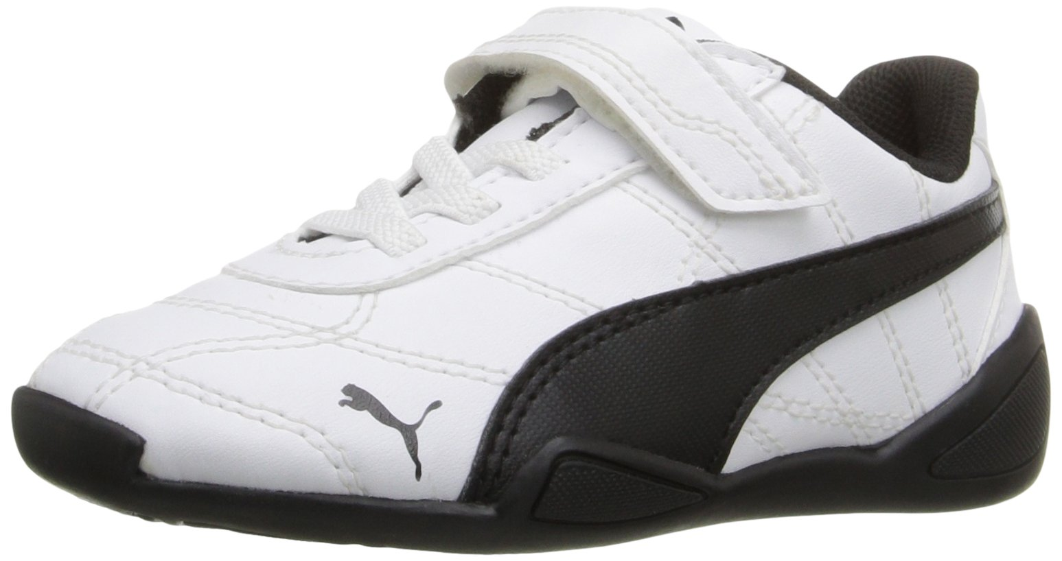 PUMA Boys' Tune CAT 3 V INF Sneaker White Black, 7 M US Toddler by PUMA