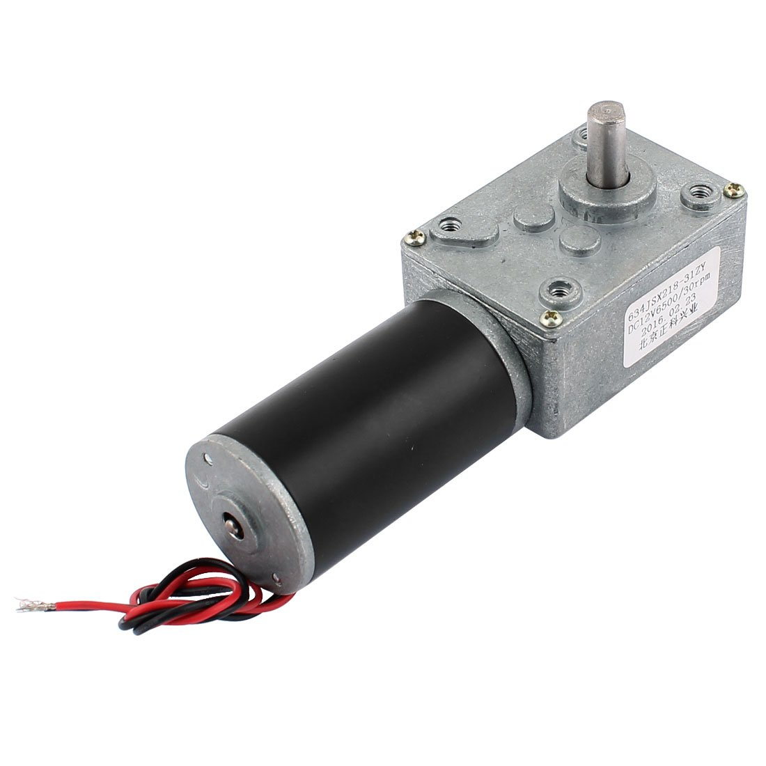 uxcell DC 12V 30RPM 8mmx14mm D-Shape Shaft Electric Power Turbo Worm Geared Motor