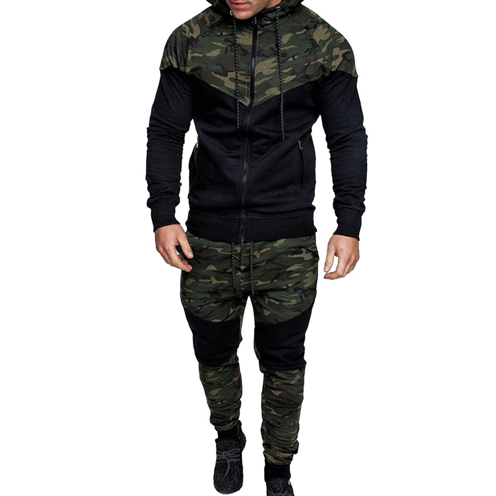 Rera Tracksuits Mens Hoodie Zip up Top Joggers Set Autumn Winter Camouflage Adult Jogging Suit MA307R229
