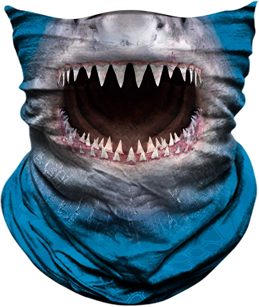 AXBXCX 3D Animal Neck Gaiter Scarf Bandana Face Mask Seamless UV Protection for Outdoor Activities