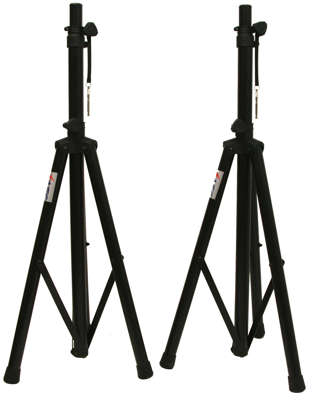speakers and stands. amazon.com: asc (2) pro audio mobile dj pa speaker stands or lighting 6 foot adjustable height tripod \u0026 nylon travel bag: musical instruments speakers and