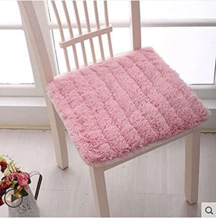 Superior Soft Thicken Plush Chair Pads With Ties Winter Indoor Warmth Square Chair  Cushion Nonslip Comfort Dining
